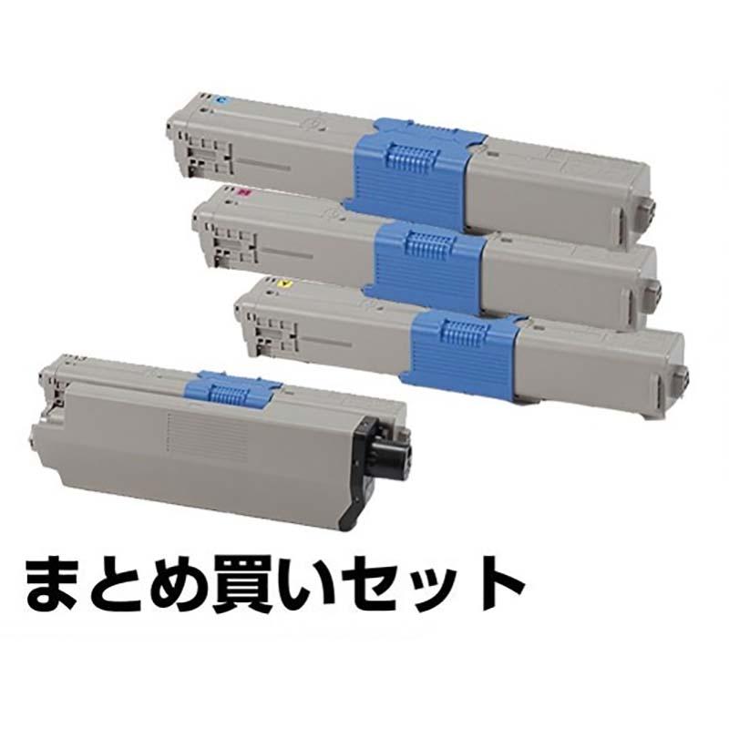 沖データ OKI TC-C4AK2/C1/M1/Y1トナーカートリッジ 4色/ブラック黒大容量/シアン/マゼンタ/イエロー 純正 MC363dnw、C332dnw 用トナー