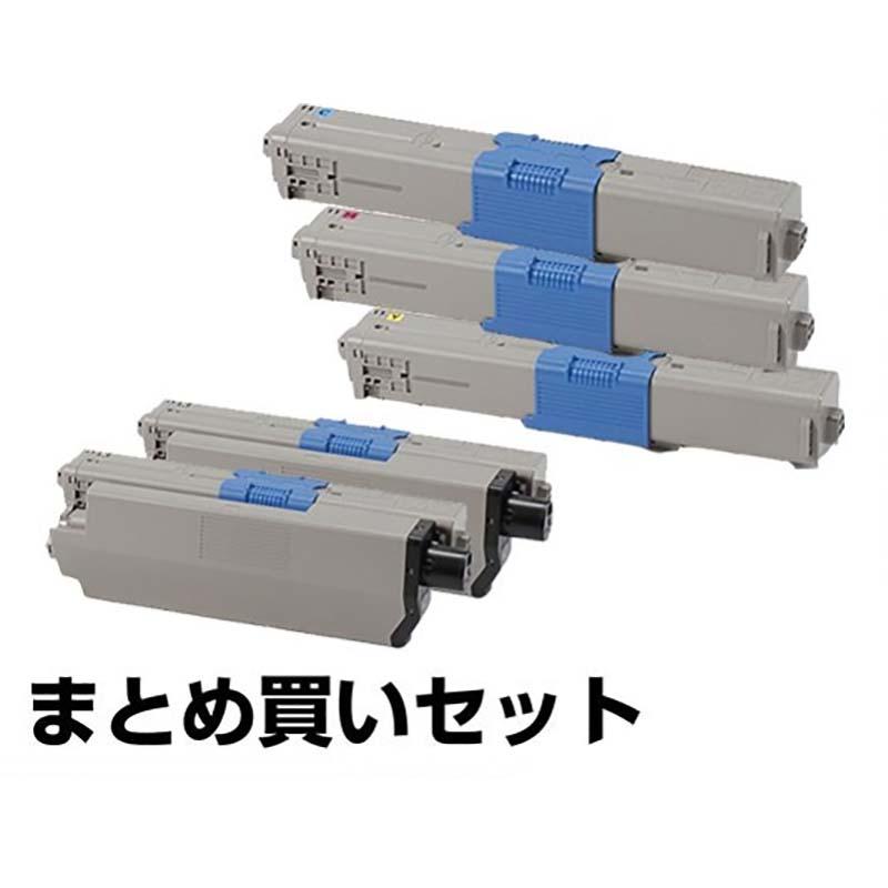 沖データ OKI TC-C4AK2/C2/M2/Y2トナーカートリッジ 4色/ブラック黒2本/シアン/マゼンタ/イエロー 純正 MC363dnw、C332dnw 用トナー