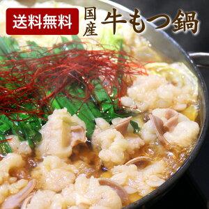 【送料無料】 国産牛 もつ鍋 セット 300g ホルモン スープ ちゃんぽん麺 2人前
