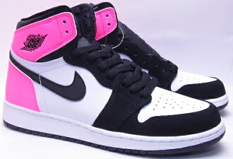 2017 NIKE AIR JORDAN 1 RETRO HIGH OG GG Valentine's Day black/white/pink耐吉空氣喬丹1重新流行高OG情人節粉紅881426-009