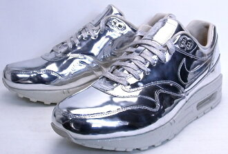 NIKE AIR MAX 1 SP LIQUID METAL SILVER METALLIC SILVER/METALLIC GOLD-SL耐吉空氣最大1特別液體金屬635786-002