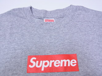 激罕见的! SUPREME(シュプリーム)BOX Logo Tee Grey/Red箱标识T恤