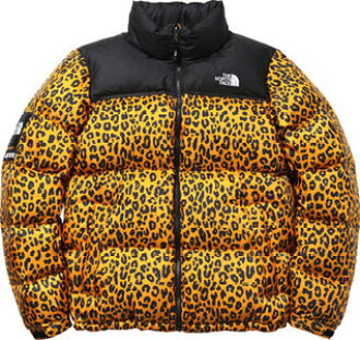 TONNEAU  Supreme×the NORTH FACE Nuptse Down Jacket yellow Leopard ... 12f5b795e