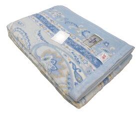 【 訳あり B格品 】キズ等わかりにくい日本製 プリント 綿毛布(スパークリング)ブルーのみ 綿100%シングル 140×200cm