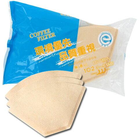 三洋 無漂白フィルター KK-102 環境優先&品質重視 3〜5杯 (100枚)