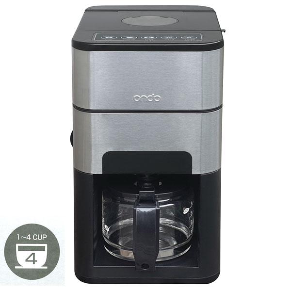 Ondo 全自動 石臼式コーヒーメーカー セラミックミル付き ブラック ON-01-BK