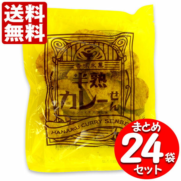 【送料無料】 煎餅屋仙七 半熟カレーせん 80g×24袋セット