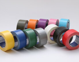 布ガムテープ カラー 白、黒/赤/黄/青/緑/銀/オリーブ/オレンジ/グレープ/ピーチ/ソーダ