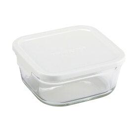 ∞ iwaki イワキ 保存容器パック&レンジ BOX M (小) 深型 ホワイト KN3247H-W パックアンドレンジ 耐熱ガラス 常備菜 つくおき 作り置き 【キッチン おしゃれ インスタ映え 人気 ギフト プレゼントとして】