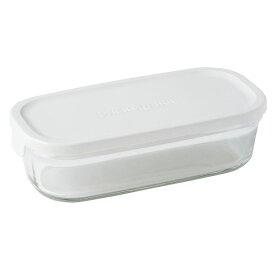 ∞ iwaki イワキ 保存容器 パック&レンジ BOX ハーフ ホワイト N3246-W パックアンドレンジ 耐熱ガラス 常備菜 つくおき 作り置き 【キッチン おしゃれ インスタ映え 人気 ギフト プレゼントとして】