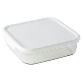 ∞ iwaki イワキ 保存容器 パック&レンジ BOX L (大) ホワイト N3248-W パックアンドレンジ 耐熱ガラス 常備菜 つくおき 作り置き 【キッチン おしゃれ インスタ映え 人気 ギフト プレゼントとして】