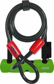 ABUS アブス Ultra Mini 410SH + Loop Cobra【頑丈】【鍵式】【U字ロック】【ケーブル付属】