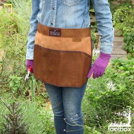 【イギリス直輸入 BRADLEYS/Heritage Leather Tool Waist Apron 】(ヘリテイジレザーツール ウエスト エプロン)ガーデニングエプロン ツール収納【秋の収穫祭】