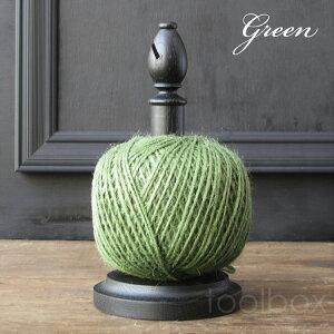 麻ひもスタンド(スタンド色:ブラック)グリーン