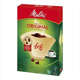 Melitta メリタ ナチュラルブラウンペーパー 1×6(40枚入) FKCJ701 [7-0851-1201]