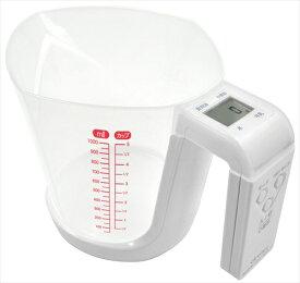 ドリテック デジタル計量カップ型スケール ファリーヌ 1kg CS−100WT BKI6401 [7-0568-0201]