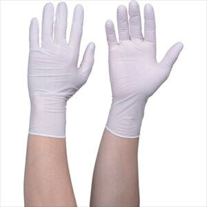 ■トラスコ中山(株) TRUSCO オレンジブック 使い捨てニトリル手袋TGワーク 0.10 粉無白S 100枚 [ TGNN10WS ]