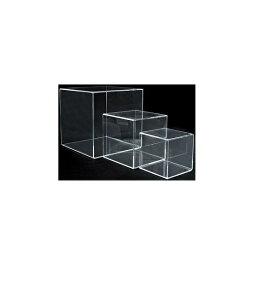 店研創意 アクリルディスプレイ サイコロトーメー 4面体51769−2 140角 NDI0303 [7-1594-1503]
