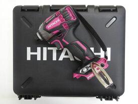 HiKOKI[日立工機] 14.4VインパクトドライバーWH14DDL2(R)【本体+ケース】パワフルレッド【H03】