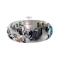 【送料無料】安全ミラースーパーオーバル(ビス止めタイプ)幅785X高さ500mm店舗の万引き防止!建物内での危険予知・衝突防止に!SF80コミーkomy