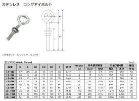 【10個】 水本機械 ロングアイボルト ステンレス LE-5M 10個