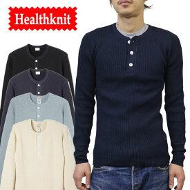 【Health Knit(ヘルスニット)】SUPER HEAVY WAFFLE HENLYNECK スーパーヘビーワッフル ヘンリーネック 長袖Tシャツ サーマル #990