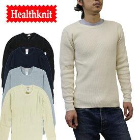 【Health Knit(ヘルスニット)】SUPER HEAVY WAFFLE ARMY CREW NECK スーパーヘビーワッフル アーミー クルーネック 長袖Tシャツ サーマル #991
