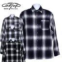 【CalTop(キャルトップ・カルトップ】 OMBRE CHECK L/S SHIRTS オンブレチェック 長袖シャツ オープンカラーシャツ 開…