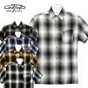 ビッグシルエット【CalTop(キャルトップ・カルトップ】 OMBRE CHECK S/S SHIRTS オンブレチェック 半袖シャツ オープ…