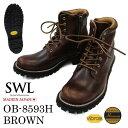 SWL【OB-8593H】スローウェアライオン/SLOW WEAR LION ブラウン/BROWN クロムエクセルレザー プレーンミッドブーツ/ワ…