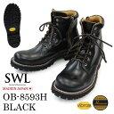 SWL【OB-8593H】スローウェアライオン/SLOW WEAR LION ブラック/BLACK クロムエクセルレザー プレーンミッドブーツ/ワ…