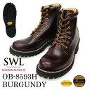 SWL【OB-8593H】スローウェアライオン/SLOW WEAR LION バーガンディー クロムエクセルレザー プレーンミッドブーツ/ワ…