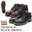 SWL【OB-8958CAC】スローウェアライオン/SLOW WEAR LION メンズブーツ 黒/茶/ブラック/ブラウン 本革/牛革/レザー オ…