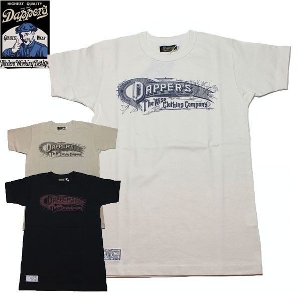 【DAPPER'S】 ダッパ—ズ 10th ANNIVERSARY CREWNECK TEE T-SHIRTS 半袖 Tシャツ