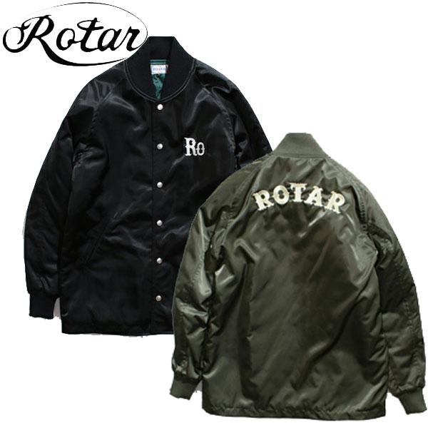 【ROTAR】(ローター) Nylon Long Stadium Jacket / 中綿キルト ロングスタジャン BLACK OLIVE 日本製