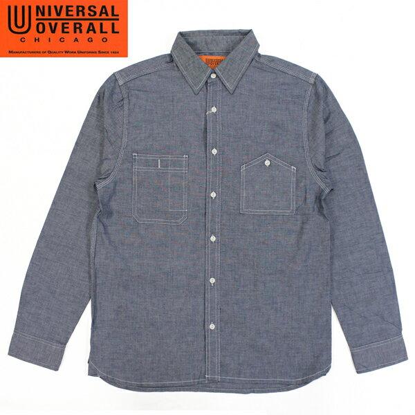 【UNIVERSAL OVERALL】 ユニバーサルオーバーオール WORK SHIRTS ワークシャツ INDIGO インディゴ