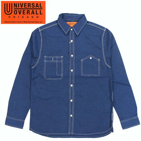 【UNIVERSAL OVERALL】 ユニバーサルオーバーオール WORK SHIRTS ワークシャツ NAVY ネービー