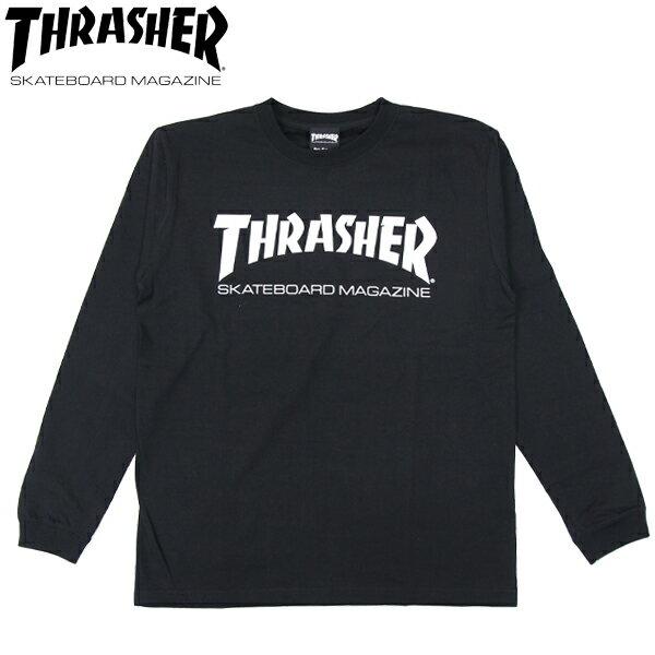 スーパーSALE 30%OFFセール【THRASHER/スラッシャー】 ロングスリーブTシャツ MAG LOGO L/S TEE / BLACK