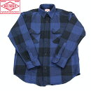 【BIGMIKE】ビッグマイクHEAVYFLANNELWORKSHIRTSフランネルワークシャツBLUExBLACK