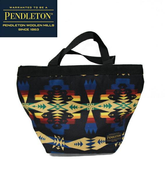 クリアランスセール SALE【PENDLETON】(ペンドルトン) MINI TOTE ネイティブ柄ミニトート エコバッグ BLACK