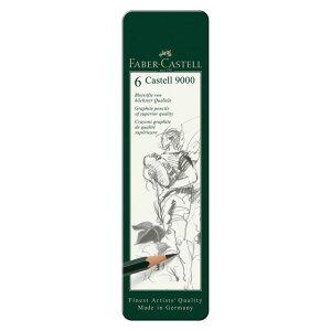 ファーバーカステル カステル9000番鉛筆 6硬度 デザイン缶セット