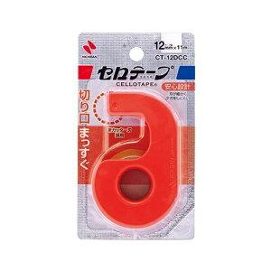 ニチバン セロテープ 小巻 カッター付〈まっすぐ切れるタイプ〉クリムゾンレッド CT-12DCC