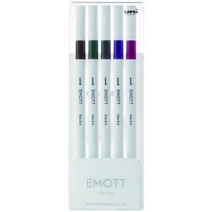 EMOTT(エモット) 水性サインペン 5色セット No.3 ビンテージカラー