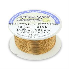 【アーティスティックワイヤー】ゴールドカラー Artistic Wire 26 28 30 ゲージ 手芸 ビーズ ワイヤークラフト