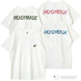 A BATHING APE × READYMADE メンズ レディース コラボ Tシャツ カットソー 半袖 クルーネック 白 ホワイト ピンク グルーン ブルー READYMADE×BAPE SHORT SLEEVE T-SHIRT RE AP WH 00 00 01