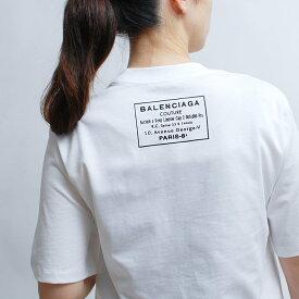 BALENCIAGA バレンシアガ Tシャツ レディース 半袖 ブランド ロゴ クルーネック 白 黒 シンプル 496052