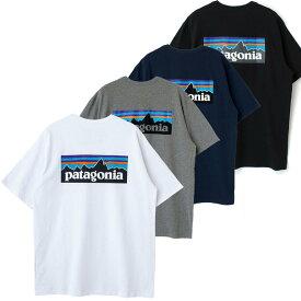 patagonia パタゴニア 38504 tシャツ レディース メンズ ユニセックス 半袖 P-6 ロゴ・レスポンシビリティー Tシャツ 白 黒 グレー ネイビー