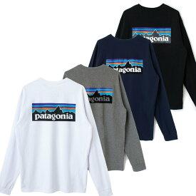 patagonia パタゴニア 38518 長袖 tシャツ レディース メンズ ユニセックス P-6 ロゴ・レスポンシビリティー Tシャツ 白 黒 グレー ネイビー