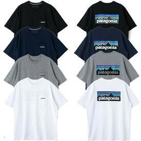 patagonia パタゴニア tシャツ レディース メンズ ユニセックス 半袖 P-6 ロゴ・ロゴ ポケット レスポンシビリティー 白 黒 グレー ネイビー 38512