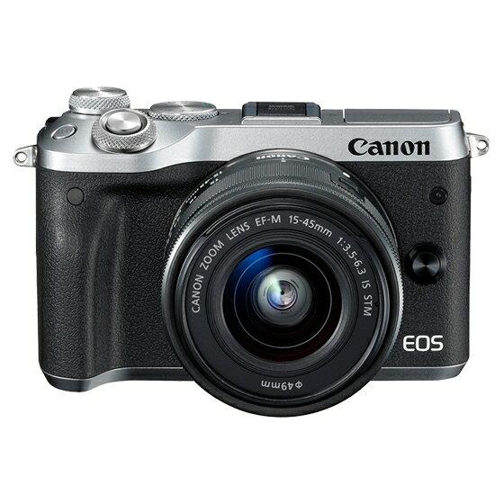 Canon キヤノン EOS M6・EF-M15-45 IS STMレンズキット SL(シルバー) ミラーレスカメラ